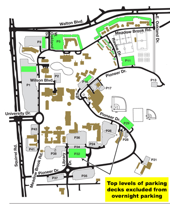 oakland university news archive important parking and traffic