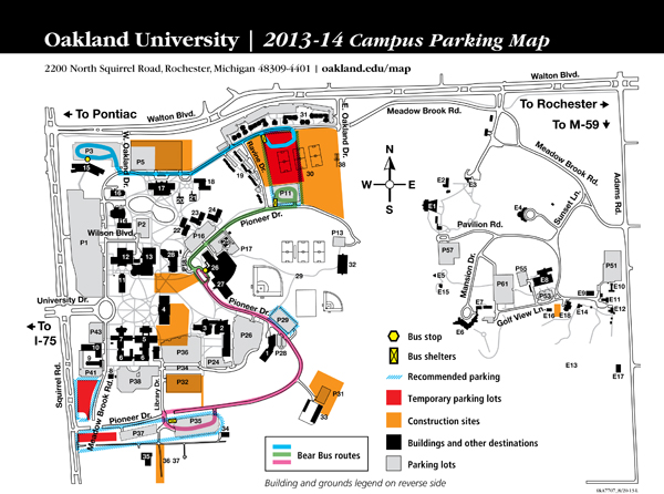 Oakland University Campus Map >> Oakland University News Archive Plan Ahead For Fall 2013 Parking